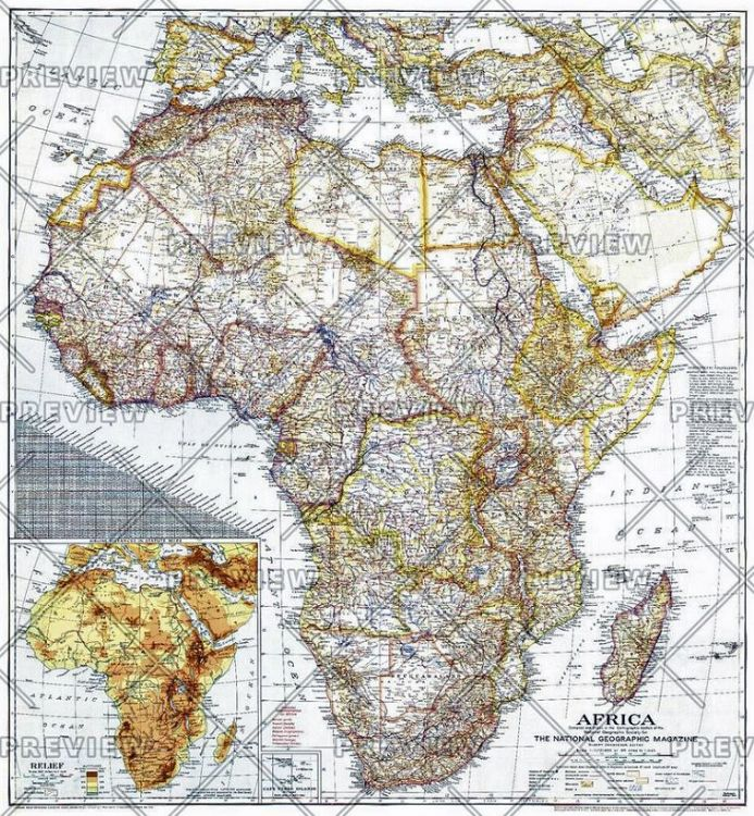 Africa - Published 1943 by National Geographic